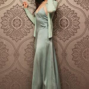 Made in UK topshop boutique silk slip dress